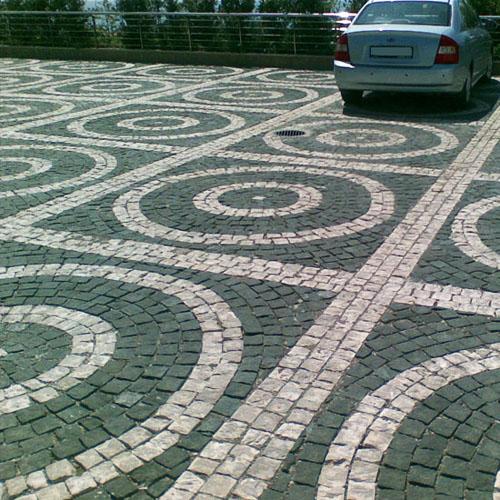 Тротуарная плитка из гранита