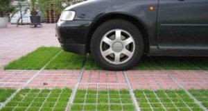 Применение георешёток для парковок